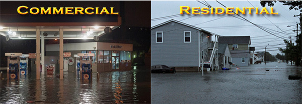 commercial water damage service North Wildwood, New Jersey